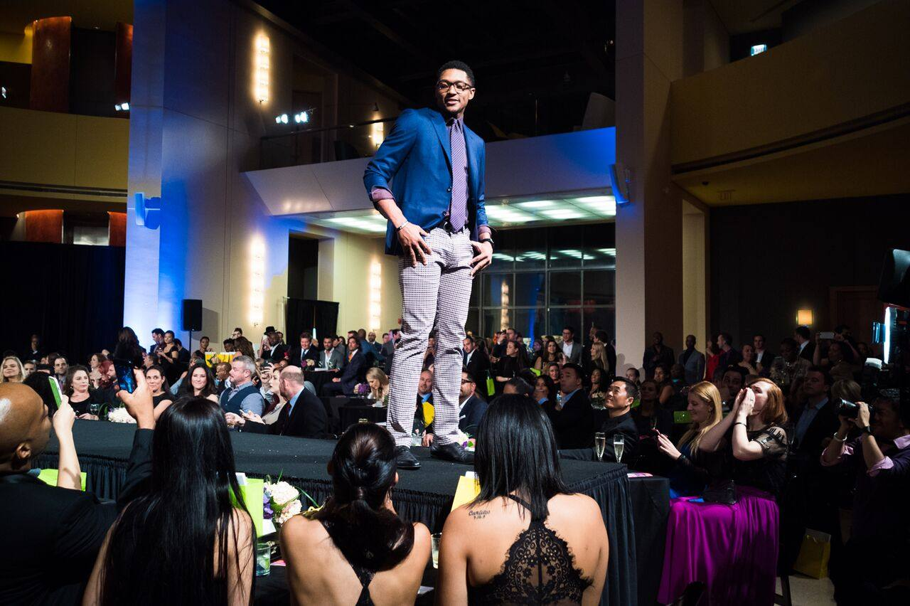 Bradley Beal at the 7th Annual Beckys Fund Walk This Way charity Fashion show by Moshe Zusman
